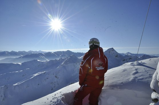 Skilehrer der Skischule Optimal