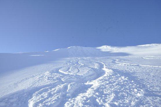 Freies Gelände im Skigebiet Kaltenbach