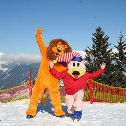 Maskottchen der Skischule Optimal
