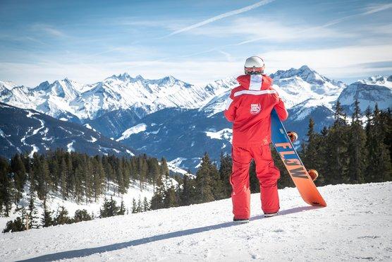 Snowboard Unterricht mit der Skischule Optimal